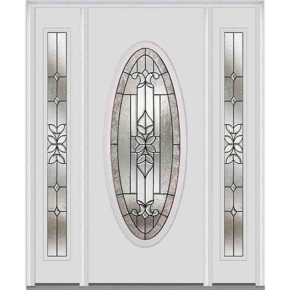 Mmi door 60 in x 80 in cadence right hand large oval for Large front entry doors