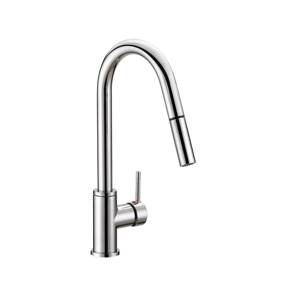 Design House Eastport Single-Handle Pull-Down Sprayer Kitchen Faucet in Polished Chrome