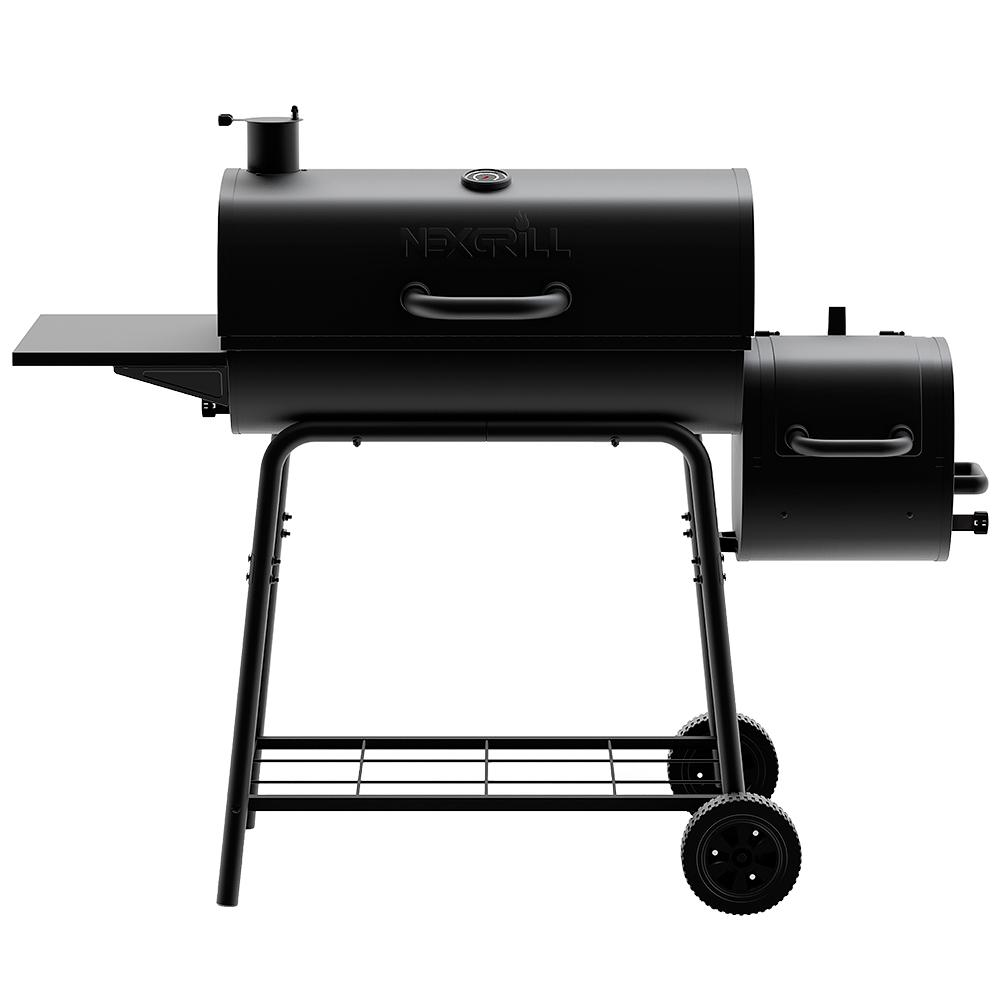 Nexgrill 29 in. Barrel Charcoal Grill/Smoker in Black