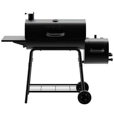 29 in  Barrel Charcoal Grill/Smoker in Black