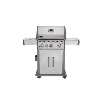 Rogue 425 with Infrared Side Burner Propane Gas Grill in Stainless Steel
