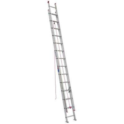 28 ft. Aluminum D-Rung Extension Ladder with 200 lb. Load Capacity Type III Duty Rating