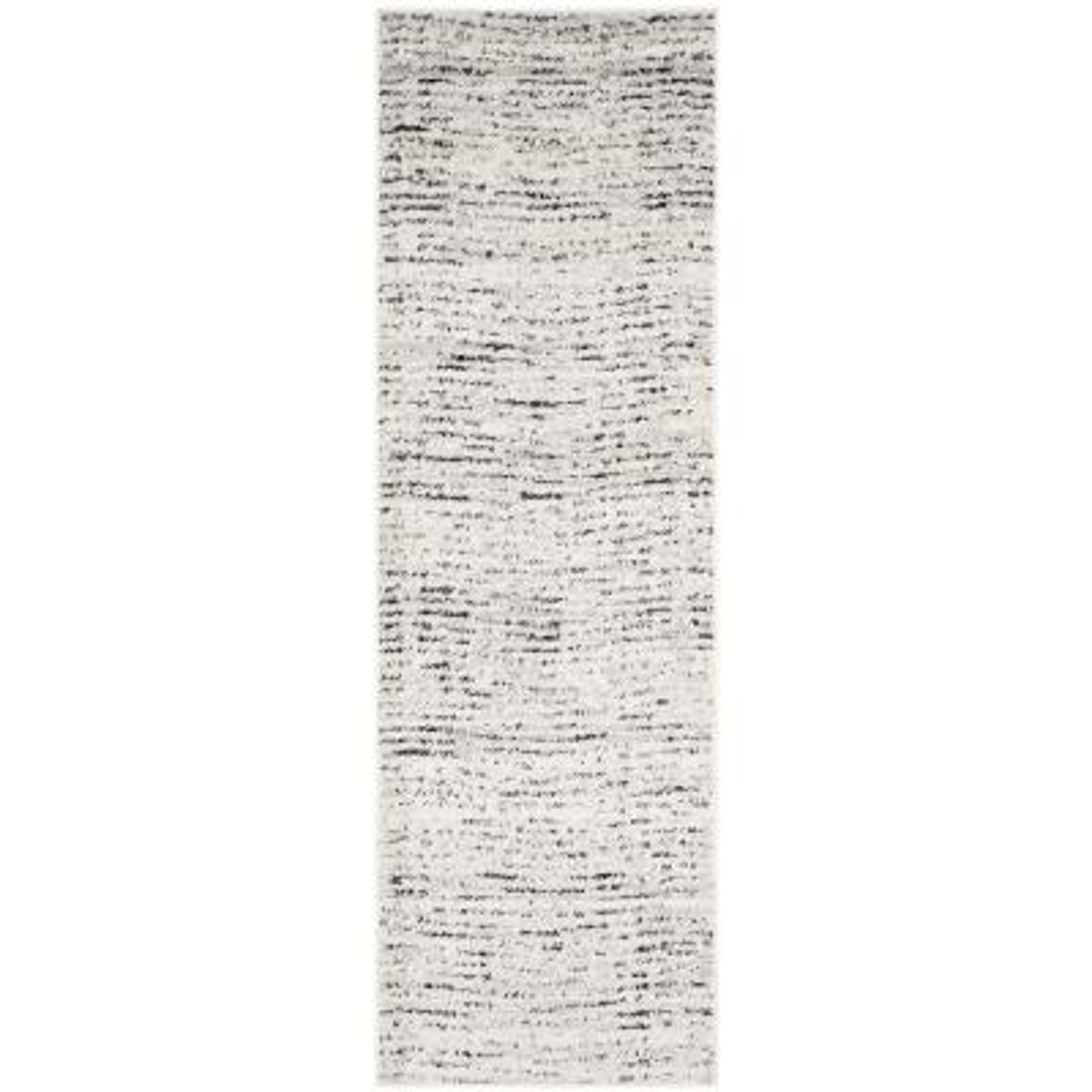 Adirondack Ivory/Silver 3 ft. x 18 ft. Runner Rug
