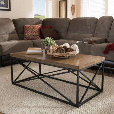 Holden Medium Brown Wood Finished Coffee Table