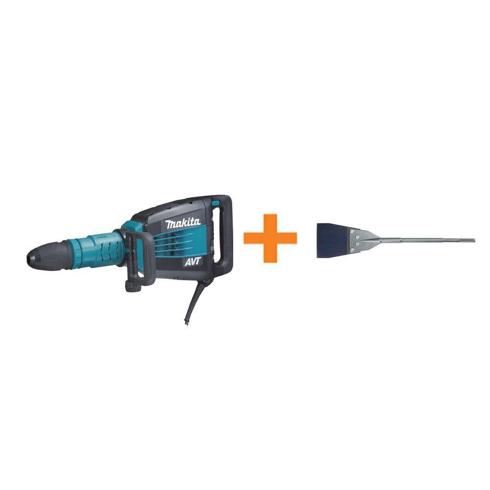 Makita 27 lb. AVT SDS-MAX Demolition Hammer w/ Free 6 inch Floor Scraper