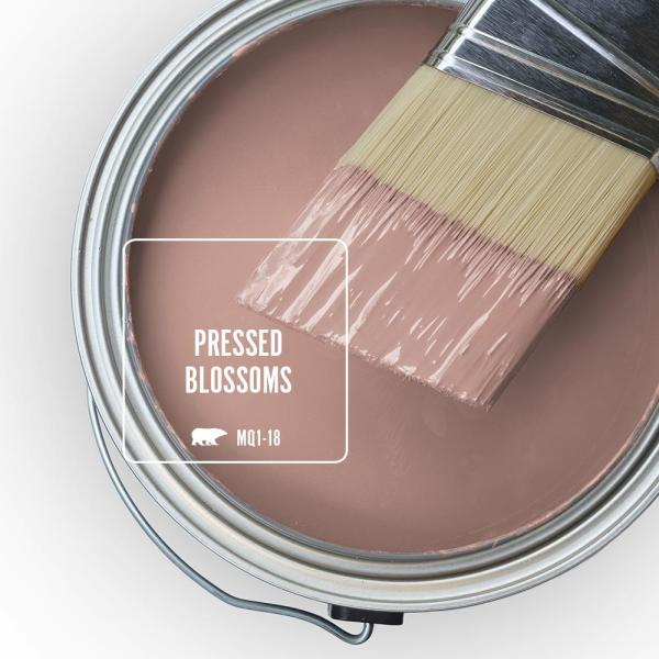 Reviews For Behr Ultra 5 Gal Mq1 18 Pressed Blossoms Extra Durable Satin Enamel Interior Paint Primer 775405 The Home Depot