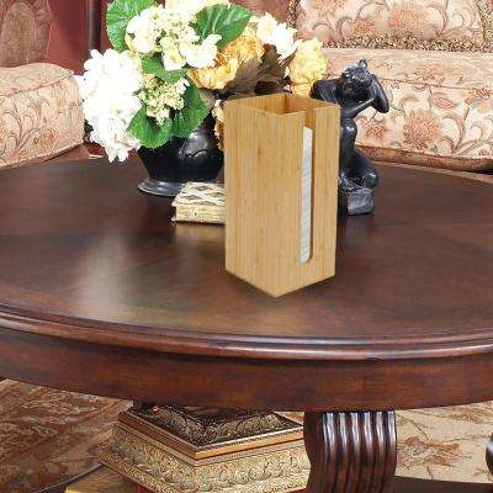 Brown Bamboo Table Napkin Holder