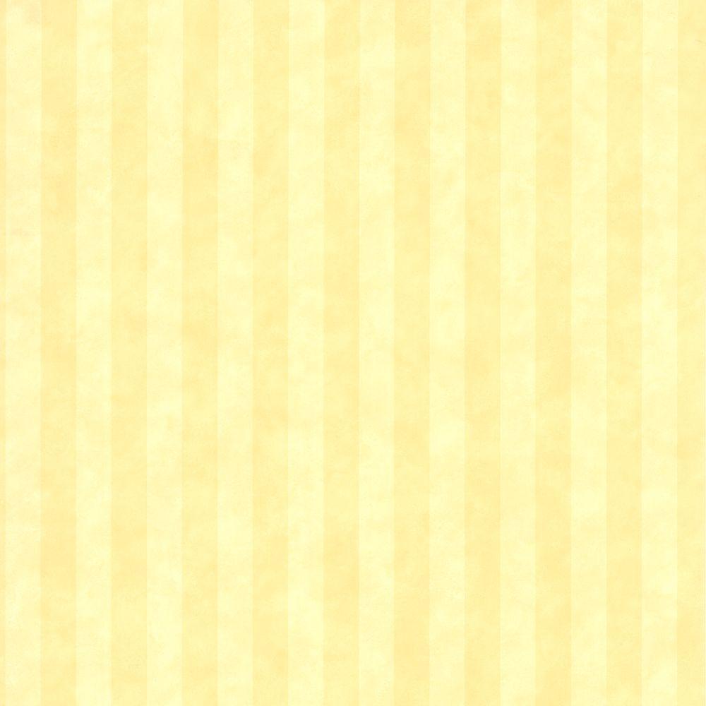 Gena Yellow Stripe Wallpaper