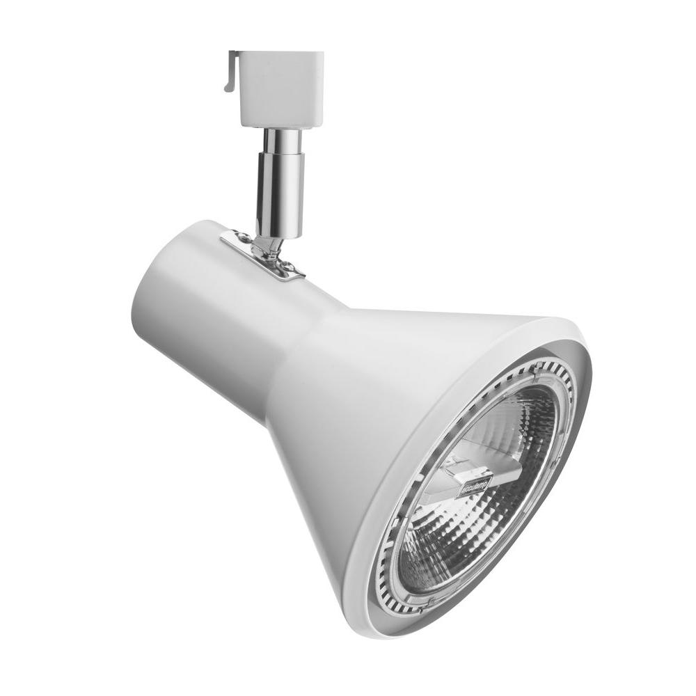 Track Light Heads: Lithonia Lighting 1-Light White Front Loading Shade