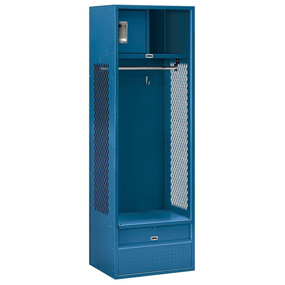 Salsbury Industries 70000 Series 24 in. W x 78 in. H x 18 in. D - Open Access Metal Locker Assembled in Blue