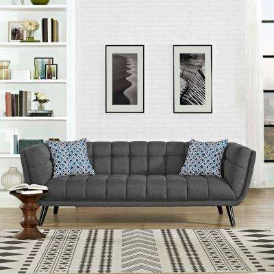 Bestow Gray Upholstered Fabric Sofa