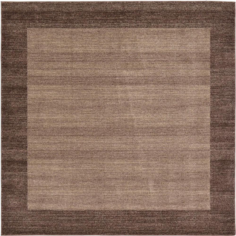 Del Mar Light Brown 8 ft. x 8 ft. Square Area Rug