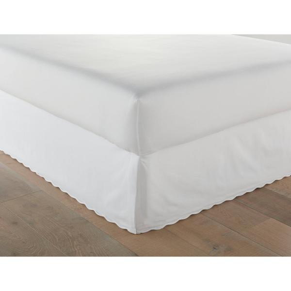Stone Cottage Sc Solid Scallop White, Queen Size Bed Skirt 15 Drop