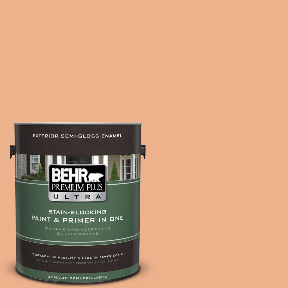 BEHR Premium Plus Ultra 1-gal. #M220-4 Trick or Treat Semi-Gloss Enamel Exterior Paint