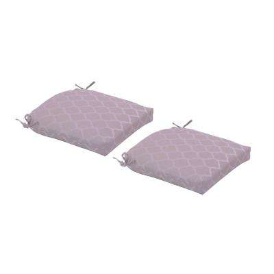 Toffee Trellis Deluxe Square Outdoor Seat Cushion (2-Pack)