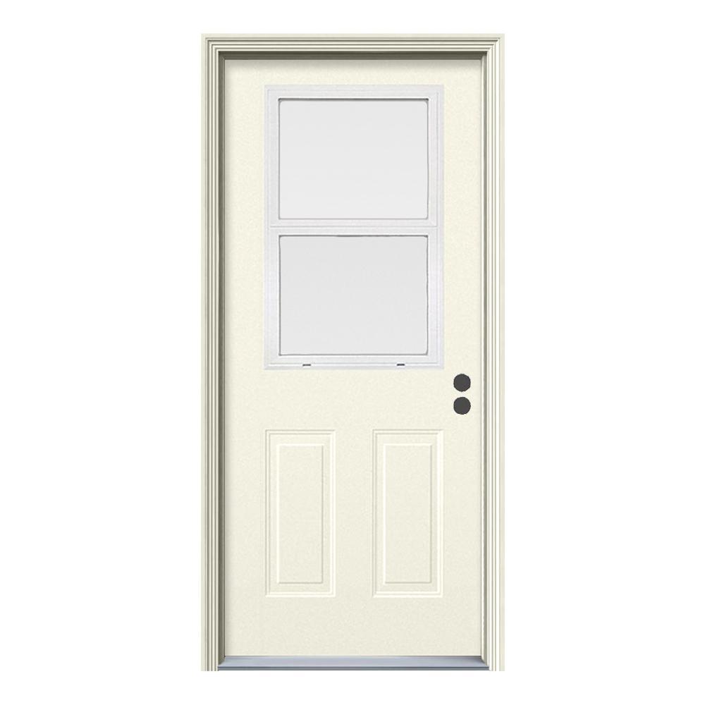 Home Depot Exterior Windows: JELD-WEN 32 In. X 80 In. Venting 1/2 Lite Primed Steel