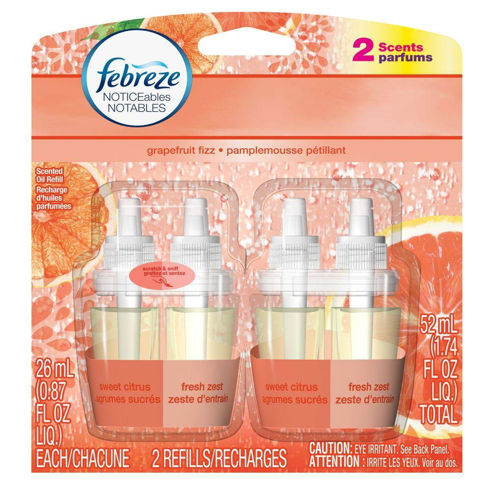 Noticeables 0.879 oz. Grapefruit Fizz Dual Scented Oil Refill (2-Pack)