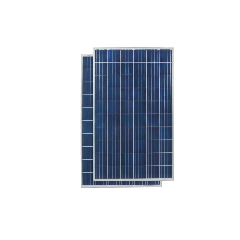 Solar Panels Alternative Energy Solutions The Home Depot How To Wire System 265 Watt Polycrystalline Panel
