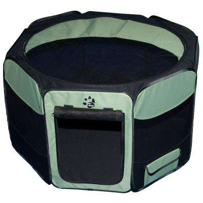36 in. L x 36 in. W x 21 in. H Octagon Pet Pen with Removable Top