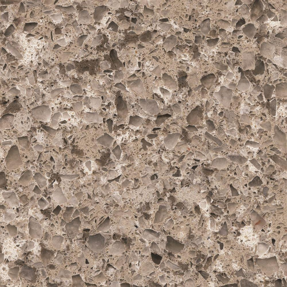 Silestone 2 in. x 4 in. Quartz Countertop Sample in Alpina White