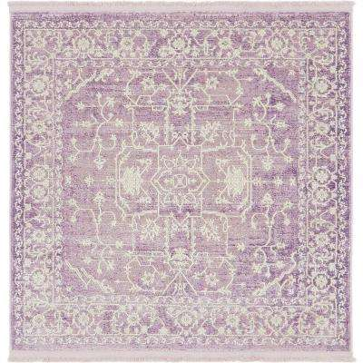 Arcadia Purple 4 Ft X Square Area Rug