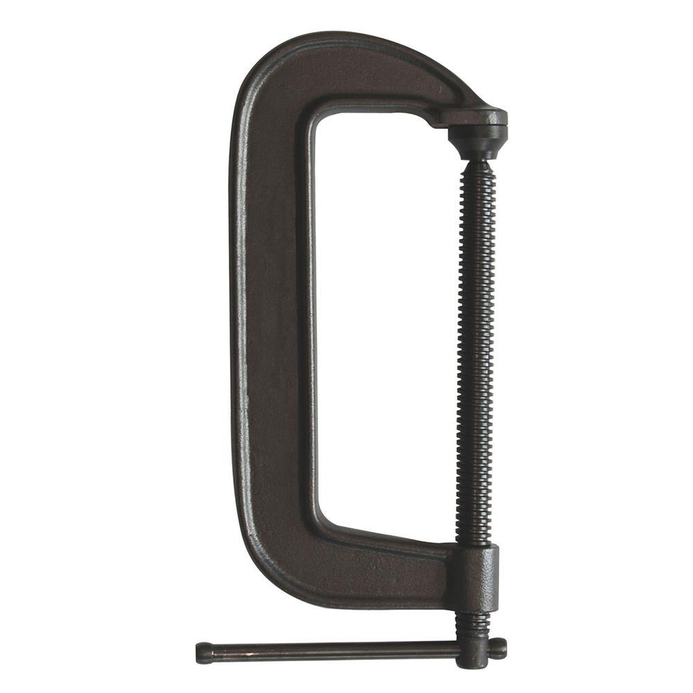 Ductile Cast Iron C-Clamp 2-1/2 in. Capacity 1-3/4 Throat Depth