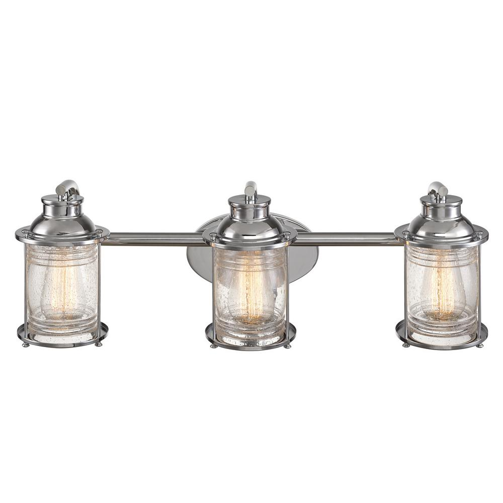 Globe Electric Bayfield 3-Light Chrome Bath Light