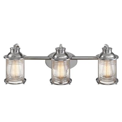 Bayfield 3-Light Chrome Bath Light