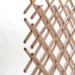 American Pro Decor 28-Bottle Trimmable Wine Rack Lattice Panel Inserts in Unfinished Solid... by American Pro Decor