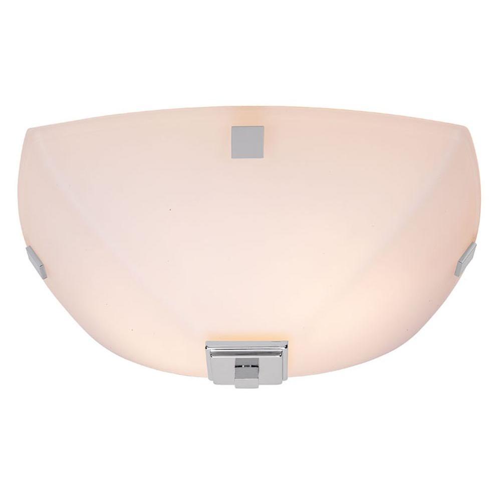 Home Decorators Collection Sydney 2-Light Polished Nickel Flushmount