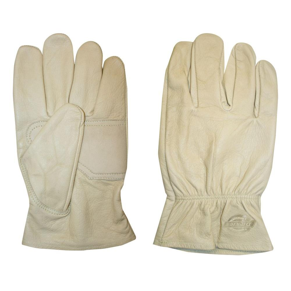 Dickies Medium Creme-Colored Patch Palm Goat Driver Glove