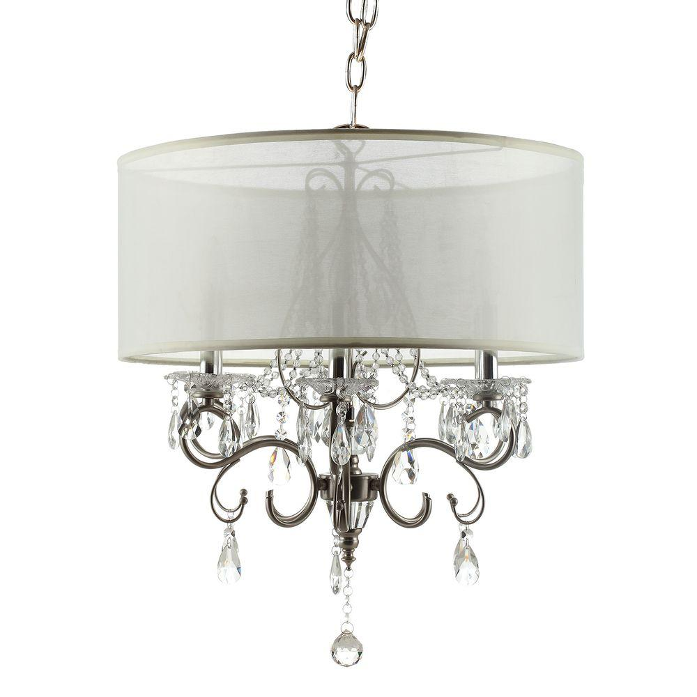 Chandelier With Shades And Crystals Homesullivan 6 light chrome crystal large chandelier 40ok 5109h homesullivan 6 light chrome crystal large chandelier audiocablefo