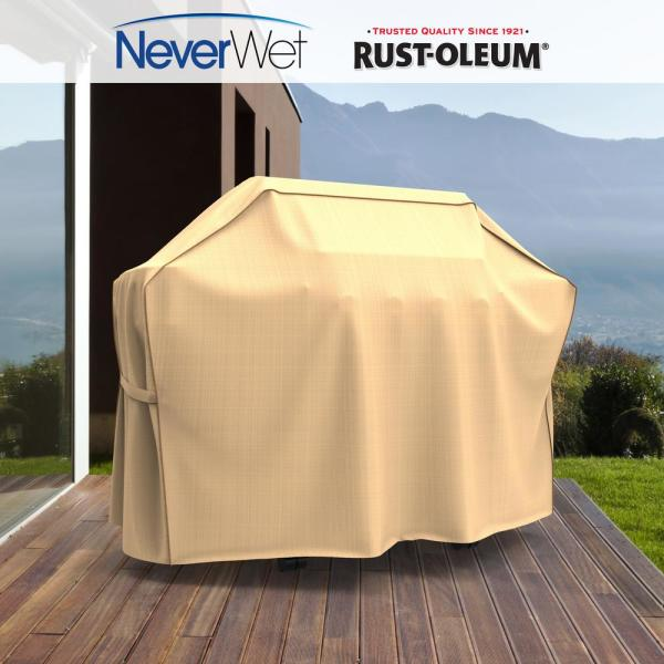 Grills Heizstrahler Picknickzubehör Patio Round Fire Pit Cover Uv Waterproof Protection 48 54 Tan Outdoor Grill Bbq Garten Terrasse Pogio Be