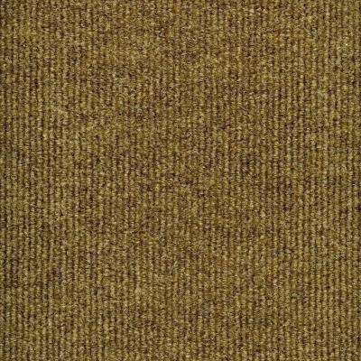 Elevations - Color Stone Beige Ribbed Texture Indoor/Outdoor 12 ft. Carpet