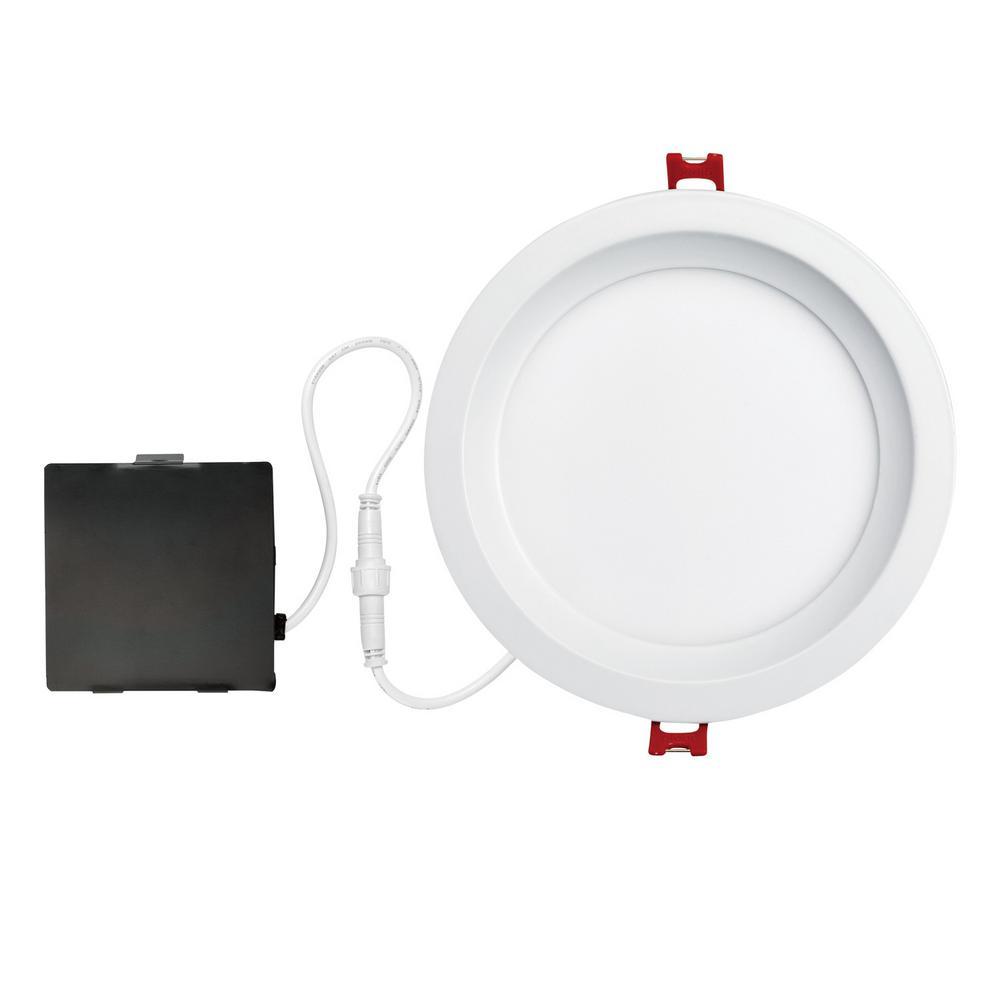Globe Electric Designer Slim Glare Control 6 In White Integrated Led Recessed Kit