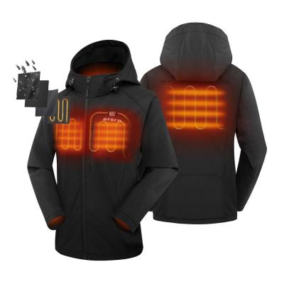 Women's Large Black 7.4-Volt Lithium-Ion Slim Fit Heated Jacket with (1) 5.2 Ah Battery Pack and Detachable Hood