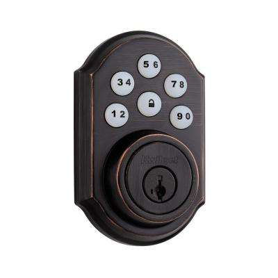 SmartCode 909 Venetian Bronze Single Cylinder Electronic Deadbolt Featuring SmartKey Security