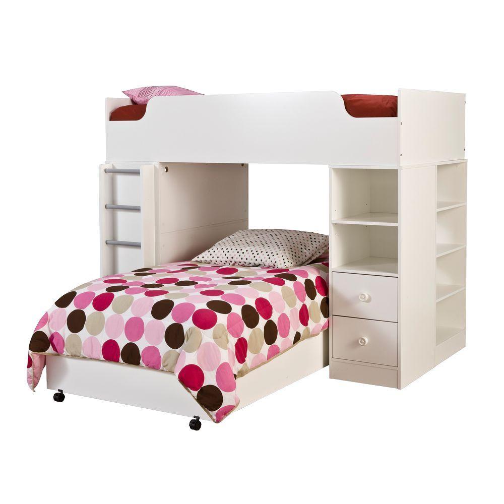 Logik 4-Piece Pure White Twin Kids Bedroom Set