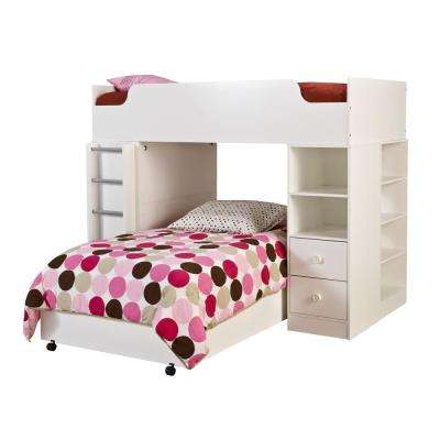 Logik 4-Piece Pure White Twin Kids Bedroom Set
