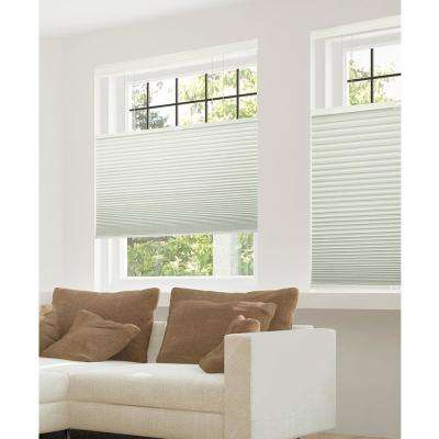 Cut-to-Width Winter White 9/16 in. Blackout Cordless Cellular Shades - 57.5 in. W x 48 in. L
