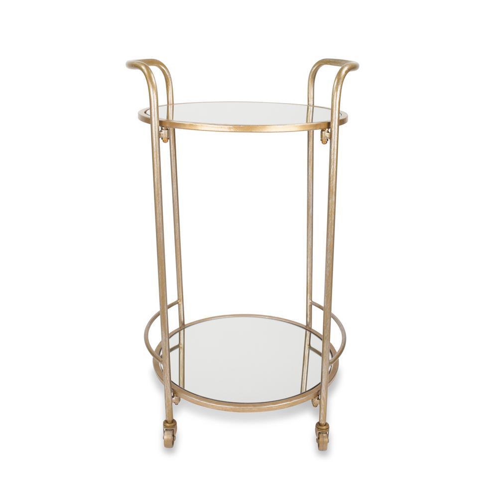 Katrine Brighton Antique Gold Bar Cart