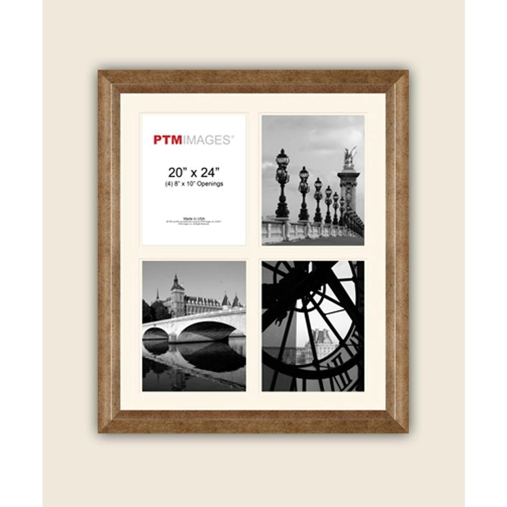 PTM Images 4-Opening 8 in. x 10 in. White Matted Champagne Photo ...