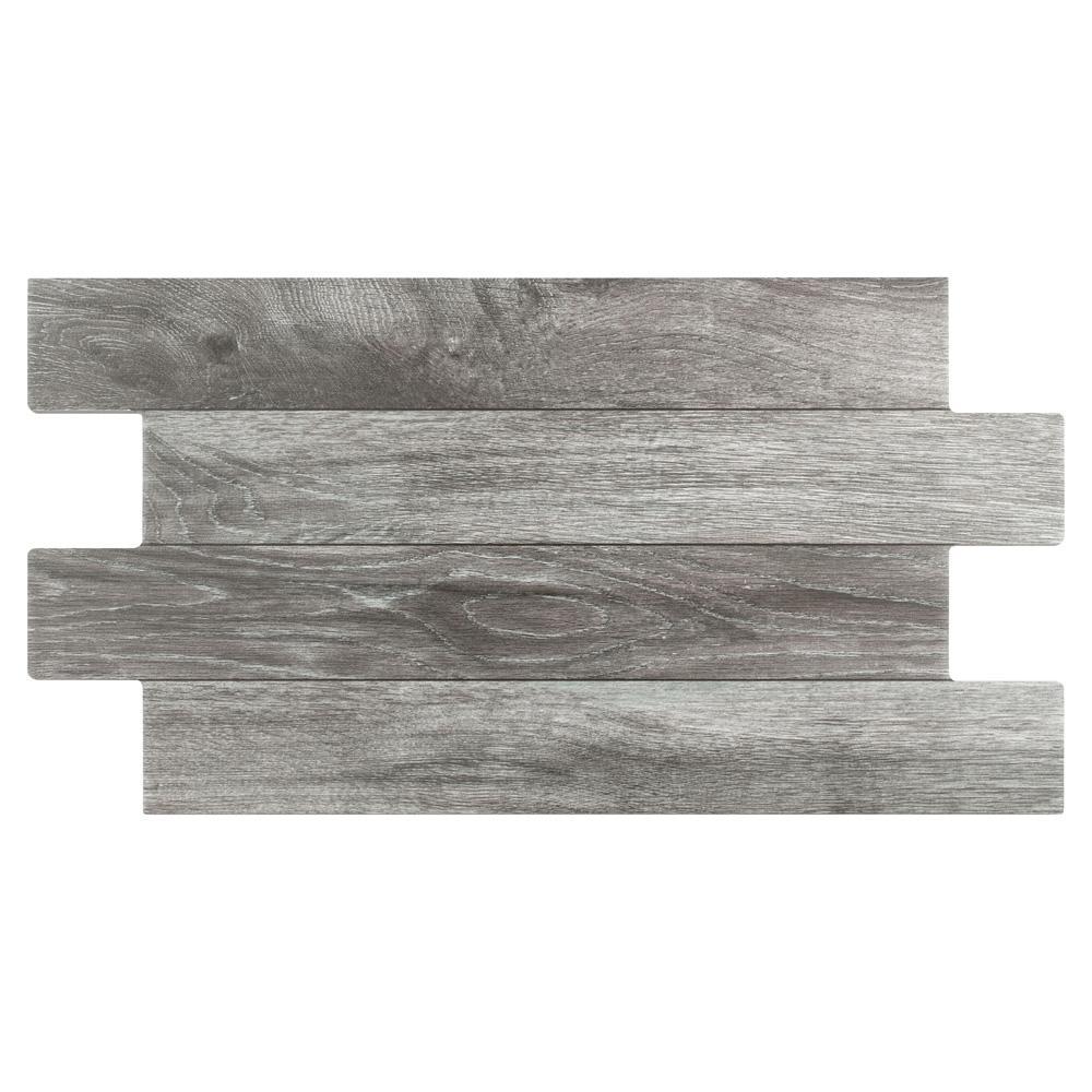 Merola Tile Jimki Cendre 12-1/4 in. x 23-5/8 in. Porcelain Floor and Wall Tile (16.6 sq. ft. / case)