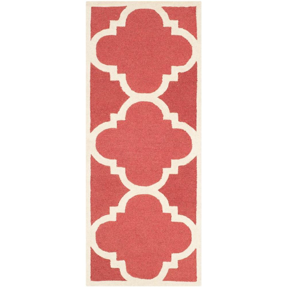 Safavieh Cambridge Rust/Ivory 2 ft. 6 in. x 12 ft. Runner
