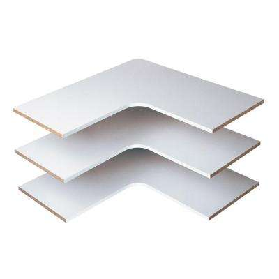 30 in. Classic White Corner Shelf (3-Pack)