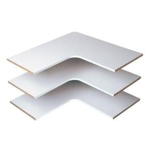 Martha Stewart Living 30 in. Classic White Corner Shelf (3-Pack)-W7 - The Home Depot