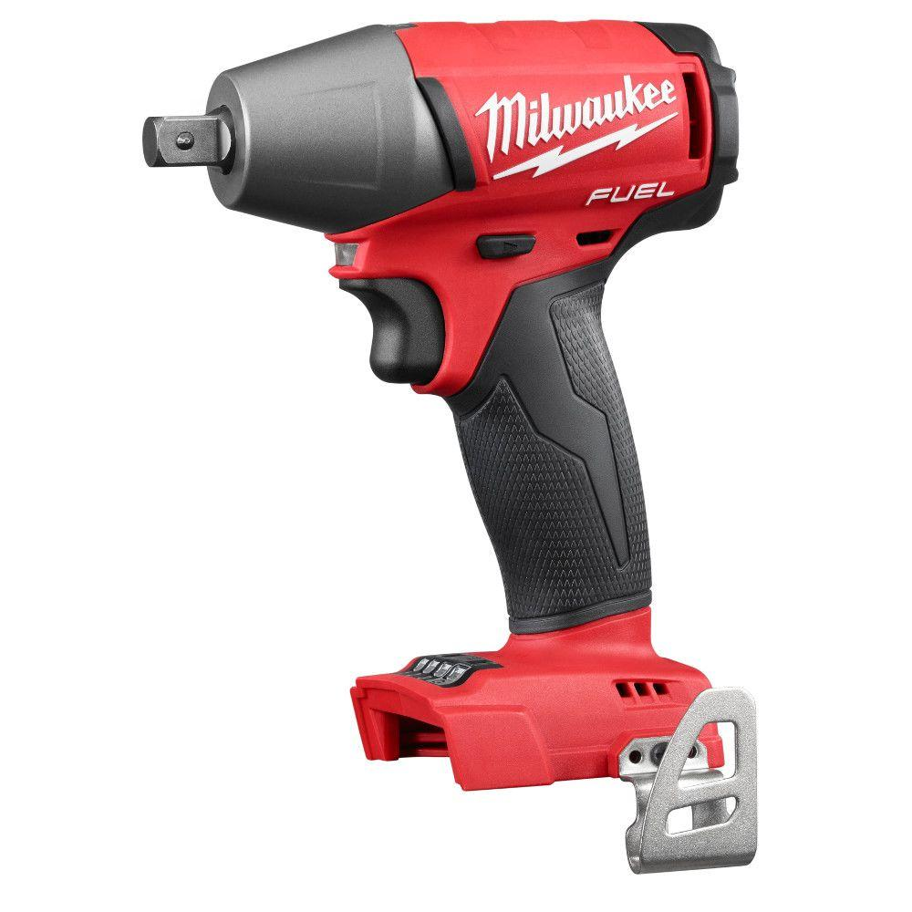 M18 Fuel 18 Volt Lithium Ion Brushless Cordless 1 2 In Compact Impact Wrench With Pin Detent Tool Only