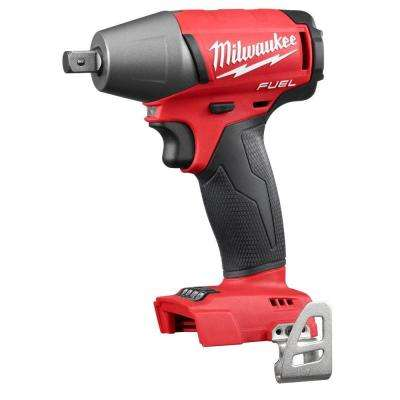 M18 FUEL 18-Volt Cordless Lithium-Ion Brushless 1/2 in. Compact Impact Wrench with Pin Detent (Tool-Only)