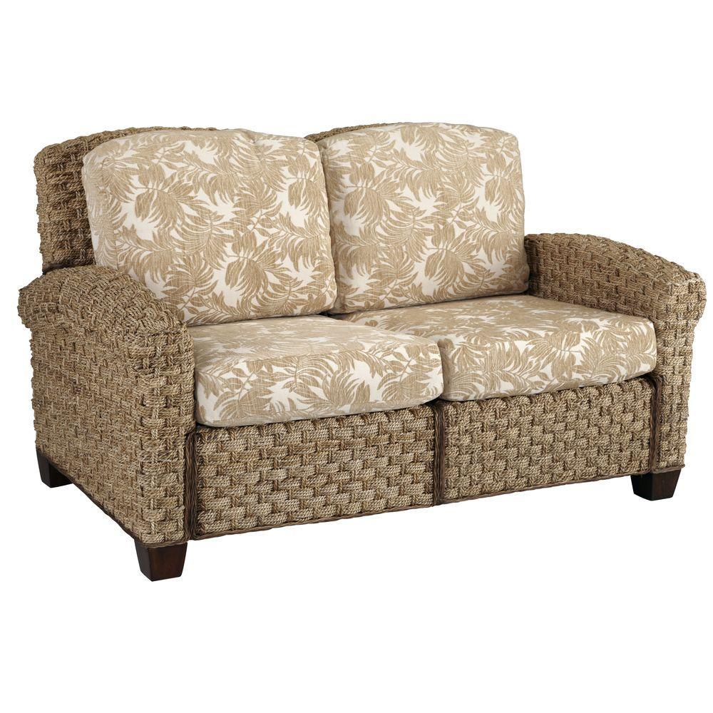 Home Styles Cabana Banana II Beige and Brown Jacquard Sofa