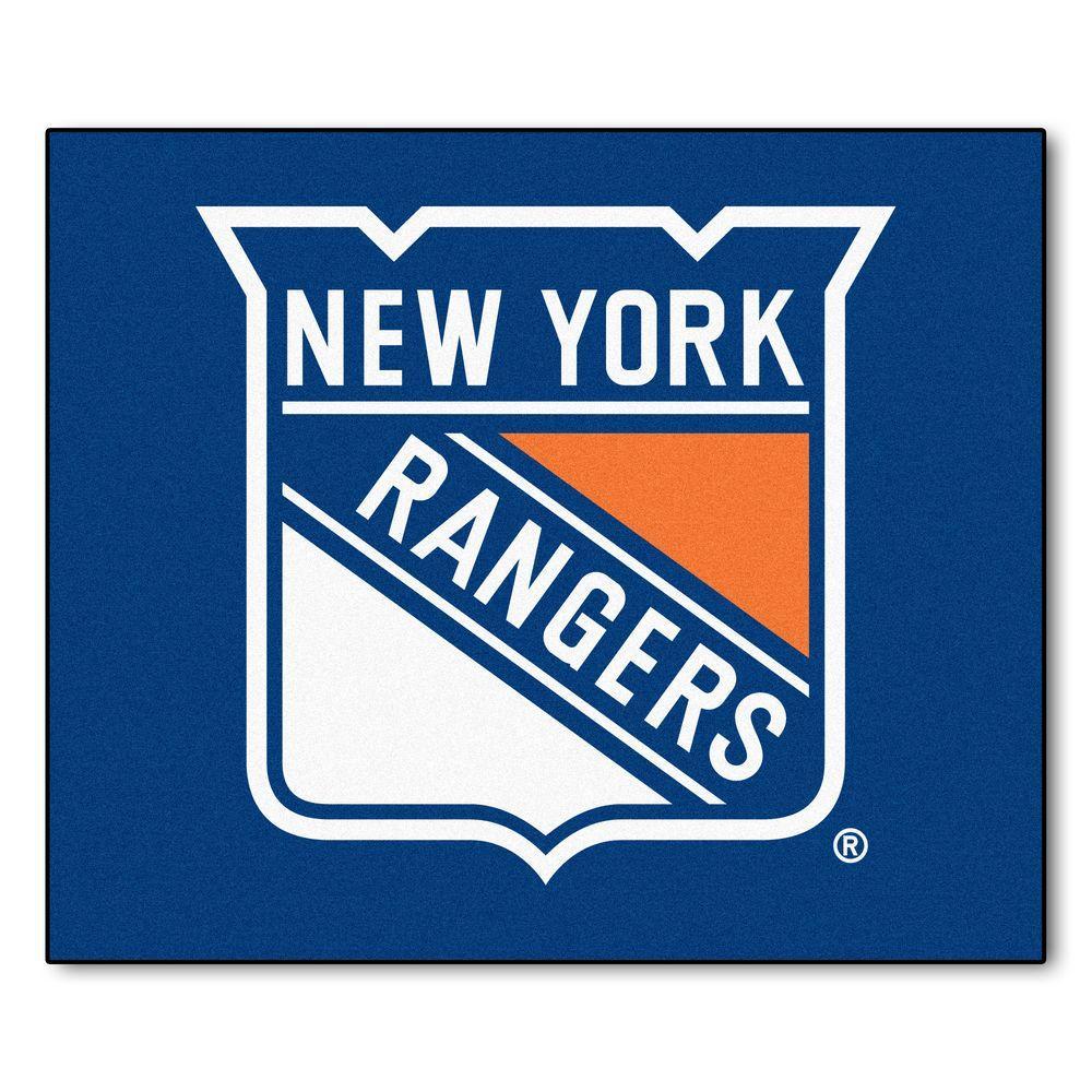 New York Rangers 5 ft. x 6 ft. Tailgater Rug